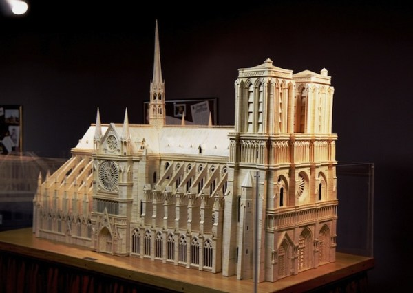 20 Stunning Matchstick Arts: Notre Dame Cathedral