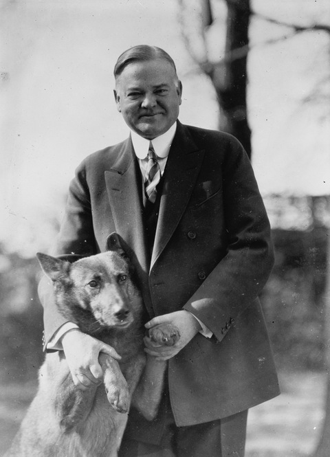 Presidential dogs: President Hoover With King Tut