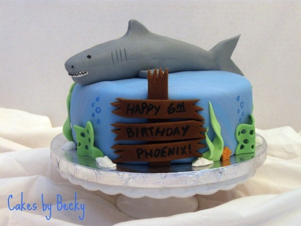 20 Killer Shark Cakes, Smiling Shark
