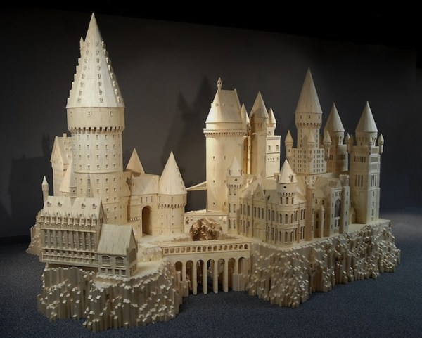 20 Stunning Matchstick Creations hogwarts school of witchcraft and wizardry