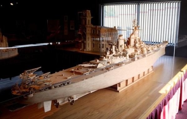20 Stunning Matchstick Creations USS Iowa
