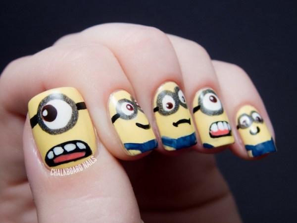 Despicable me minions nail art design