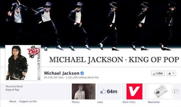 Micheal Jackson Facebook Page