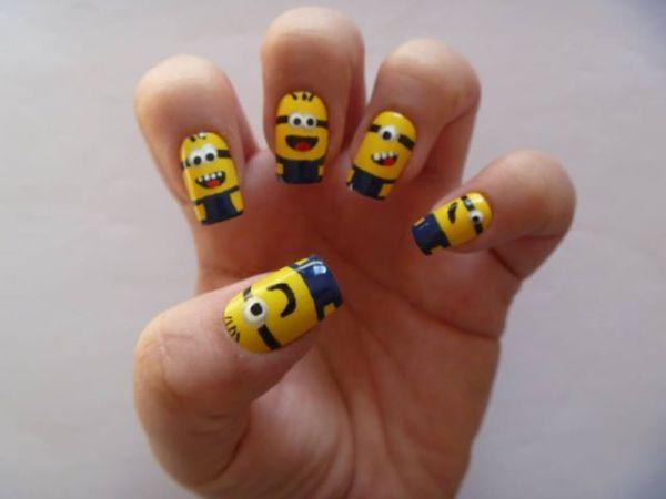 minions despicable me nails