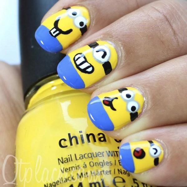 Minions Nail Art Design