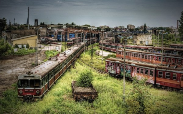 Abandoned places Railway Station Poland