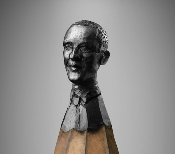 barack obama pencil carving