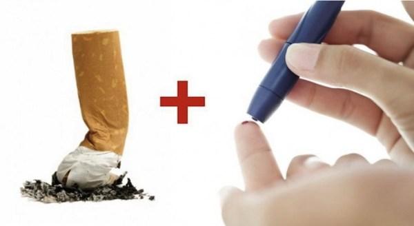 Smoing causes diabetes type 2