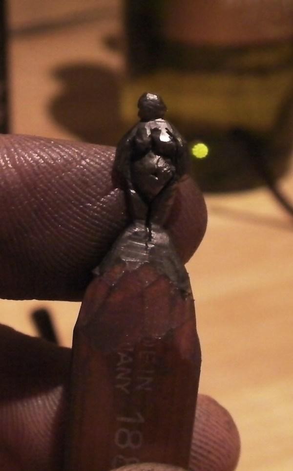 pencil tip sculpture
