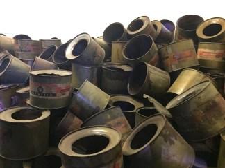 Auschwitz I - lata original do inseticida Zyklon B