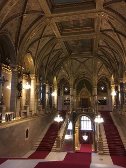 Interior do Parlamento de Budapeste