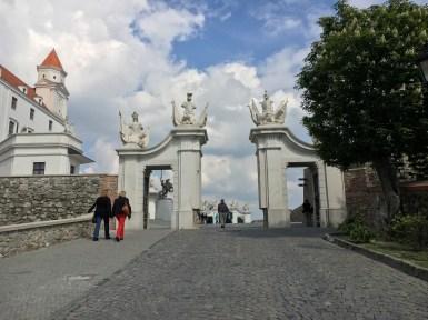 Entrada do Castelo de Bratislava
