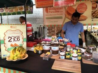 Barraca de panquecas da Malásia (uma delícia!)