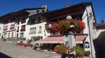 Centro antigo de Gruyères