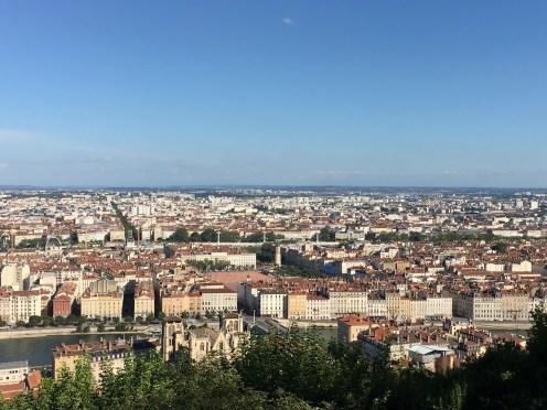 Vista do alto da colina de Fourvière