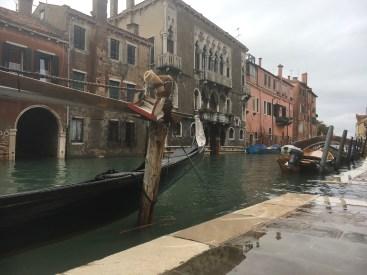 Norte de Veneza - nível da água estava alto