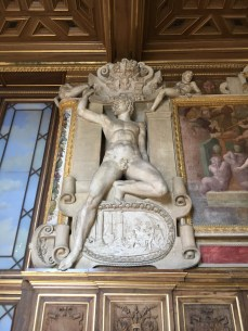 Galeria François I - sala de baile - detalhe da parede
