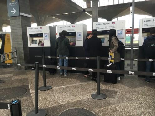 Máquinas automáticas SNCF