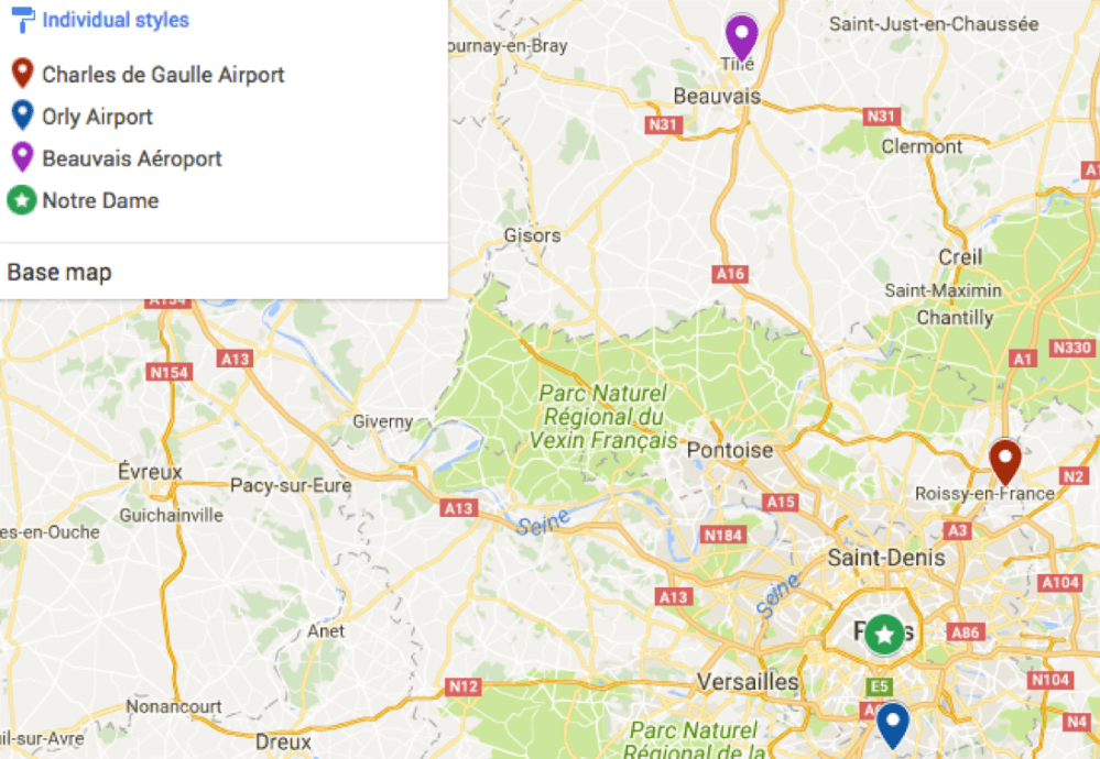 mapa aeros