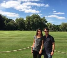 Jardim dentro do Palácio de Buckingham
