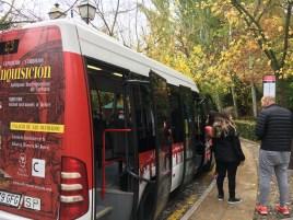 Ônibus C3 que leva até a entrada de Alhambra
