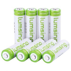umsing Lumsing 2500mAh AA Rechargeable Batteries 16-Pack With Battery Storage Box