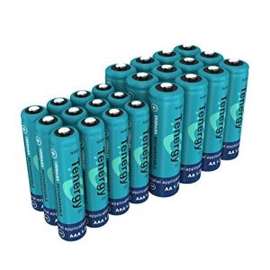 Tenergy High Drain AA AAA C and D Battery, 1.2V Rechargeable NiMH Batteries Combo,8-Pack 2600mAh AA Cells,8-Pack 1000mAh AAA Cells,4-Pack 5000mAh C Cells and 4-Pack 10000mAh D Cell Batteries