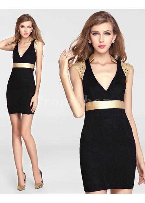 Dramatic Satin Sleeveless Sheath Short/Mini Prom Dresses