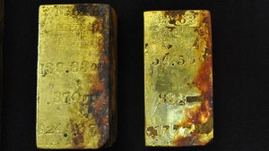 gold-bars in the hold of the SS Central America, at the bottom of the ocean.