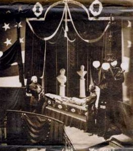 Lincoln laying in State in New York City Hall