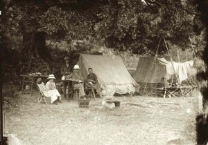 Roy and Yvette Andrews in  1916  camp in Fuchow, China