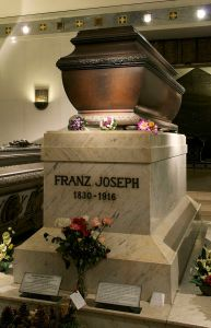 Final Resting place for Franz Joseph along with the other Hapsburg rulers in the basement of the Capuchin Church in Vienna.