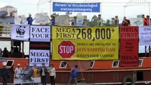 Protesting the dam