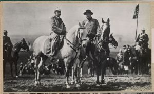 Theodore Roosevelt and Kaiser Wilhelm II of Germany watching the German Army Games