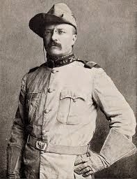 Colonel Theodore Roosevelt head of the Rough Riders in Cuba
