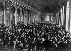 Signing the Treaty of Versailles Septemver 1918