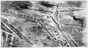 The German, Hindenberg Line from the air.