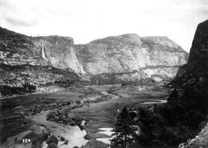 Old photograph of the Hetch Hetchy Valley