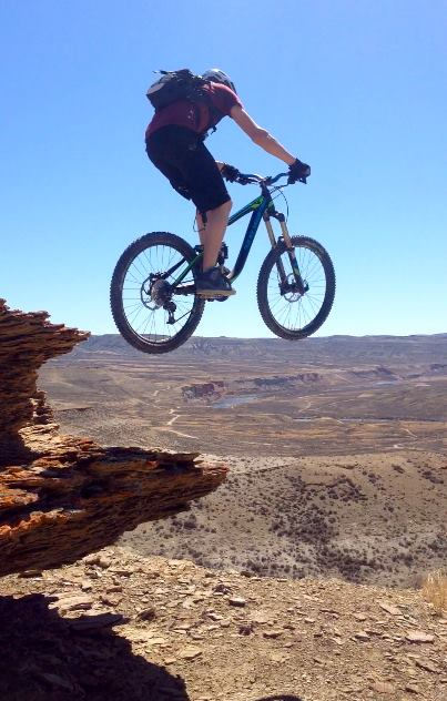 Riding Green River bikes trails. Promotional photo by the Sweetwater  Mountain Bike Association