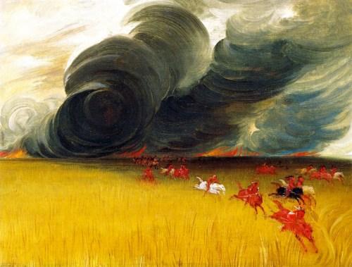 George-Catlin-xx-Prairie-Meadows-Burning-xx-Smithsonian-American-Art-Museum