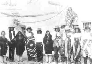 Friends of Charles Fletcher Lummis during his recuperation in Ithe Pueblo of Isleta