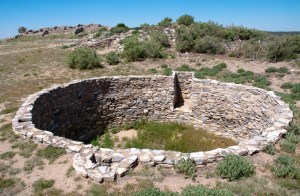 Remains of old Kiva used for religious purposes by Puebo People