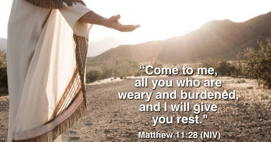 Rest And You Matthew Come 28 Weary I Who All Give Will Me And You Burdened 11 Are