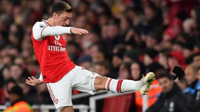 Ozil was visibly frustrated after being substituted off in Arsenal's 3-0 defeat at home to Manchester City