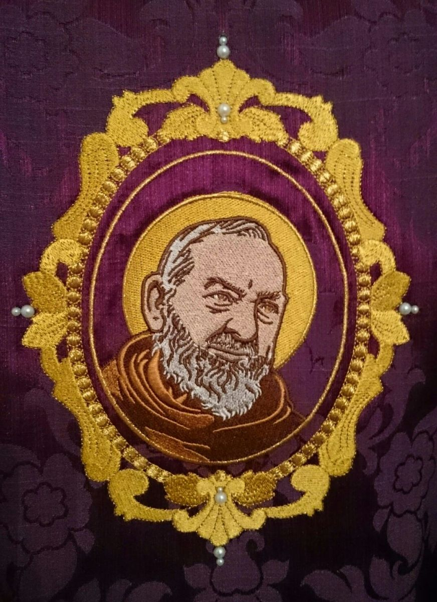 Padre Pio vestments - and I'm blocked by FB, again.
