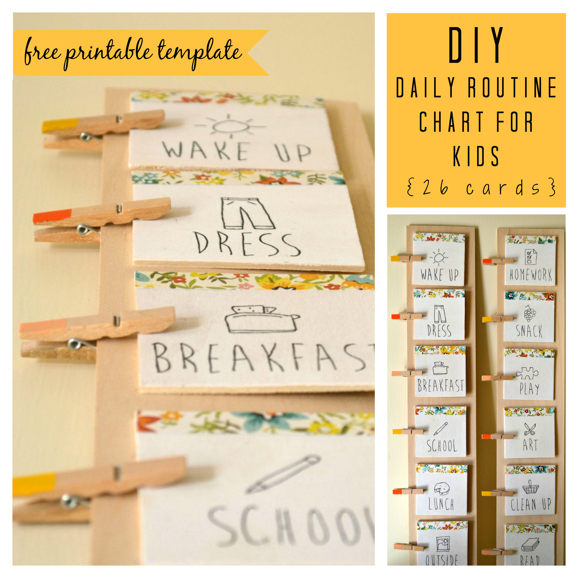Diy Daily Routine Chart For Kids