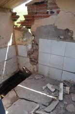 Inside of the bath hut