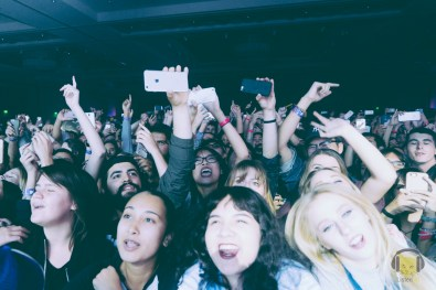 Front row fans going crazy for Two Door Cinema Club
