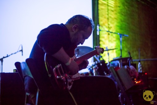 Jefre Cantu-Ledesma at Mexican Summer's 10 Year Anniversary Show at Pioneer Works by Francesca Tirpak