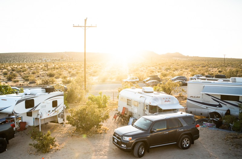 Camping at Joshua Tree Music Festival, photo by Kristy Walker for ListenSD